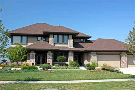 Modern Craftsman Style House Plans Contemporary Craftsman Prairie Style Southwest House Plan