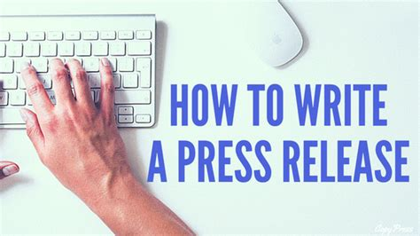 how to write a press release copypressed