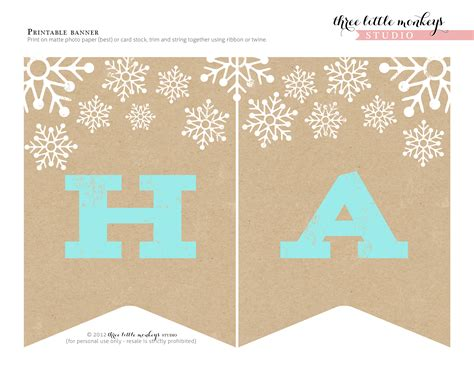 printable noel banner free christmas party printables from three little monkeys