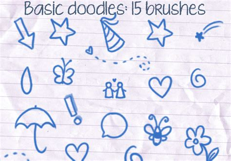 how to create a doodle in photoshop basic doodles brushes free photoshop brushes at brusheezy