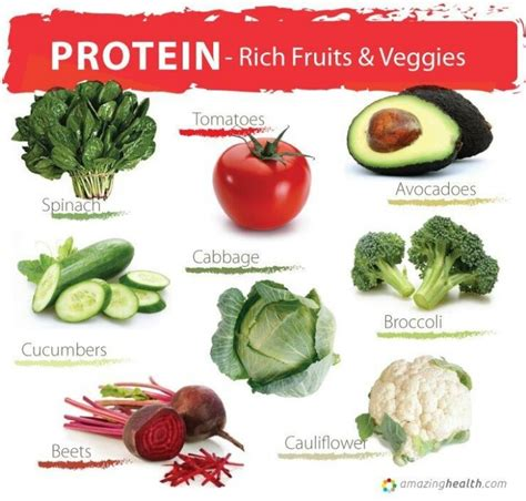 protein vegetables protein rich fruits and veggies who knew ideas to