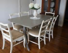 Paint Dining Room Table Painted Refinished Kitchen Tables Table Sloan Chalk Paint In Quot Linen Quot Chairs