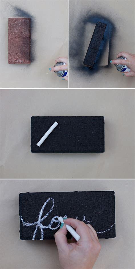 diy chalkboard table numbers chalkboard brick diy table numbers