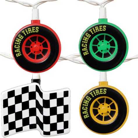 String Lights For Cing Racing Tires Checkered Flags String Lights