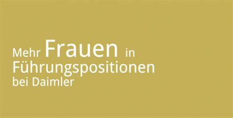 Bewerbungsgesprach Daimler Mehr Frauen In F 252 Hrungspositionen Bei Daimler Karrieref 252 Hrer