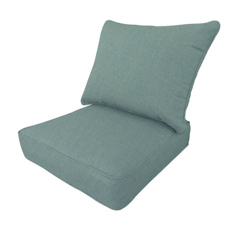 patio chair seat cushions shop allen roth sunbrella canvas spa seat patio chair cushion at lowes