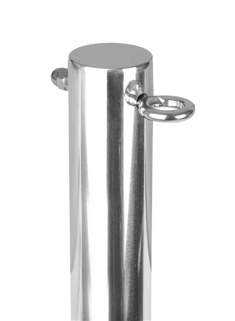 Poles Stainlees 4 In 13 1 quot 4m stainless steel shade sail pole with eyebolts