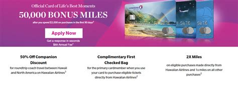 bank of hawaii credit card sign on hawaiian airlines frequent flyer credit card infocard co