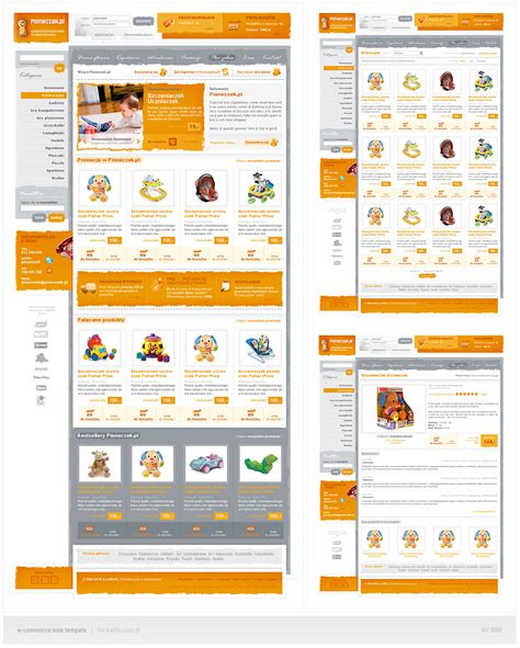 ecomerce template e commerce template by drammen on deviantart