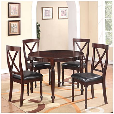view wooden 5 dining set deals at big lots