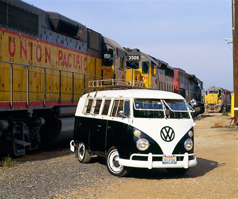 black volkswagen bus kombi car stock photos kimballstock