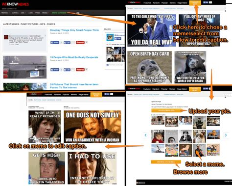 Meme Website List - best online meme generators tricks by r jdeep