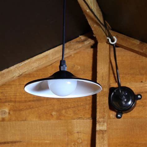 Solar Powered Shed Light With Pull Cord And Remote Control Solar Powered Lighting