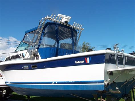 wellcraft boat canvas wellcraft 28 coastal fishing boat 1986 for sale for