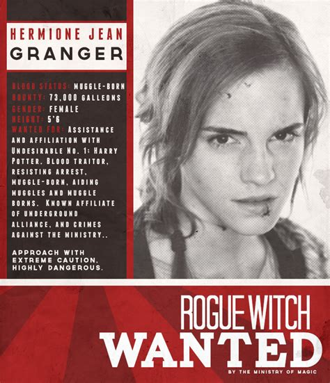 Hermione Granger Witch by Rogue Witch Wanted Hermione Jean Granger By Pscruzrocks