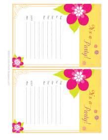free printable birthday invitations theruntime