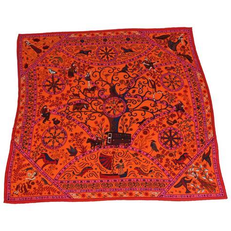 Big Hermes Free Scarf large hermes silk and scarf at 1stdibs
