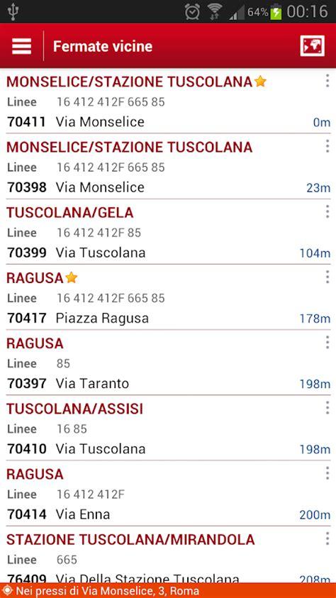 atac mobile orari probus roma autobus orari atac app android su play