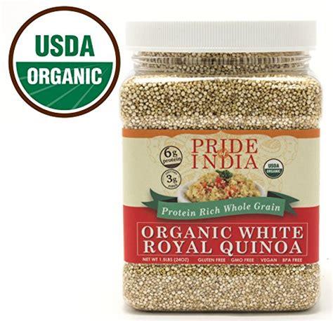 whole grains rich in protein pride of india organic white royal quinoa protein rich