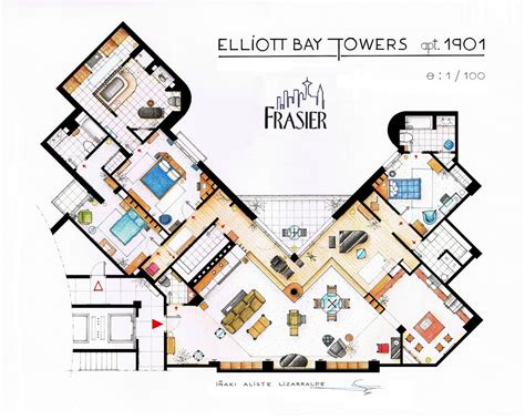 frasier apartment floor plan frasier s apartment floor plan robert waddilove