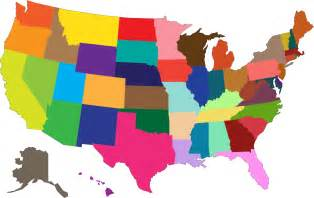 image of a map of the united states clipart multicolored united states map