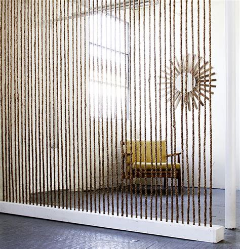 Rope Room Divider 25 Diy Ways Of Using Rope For A Vintage Look