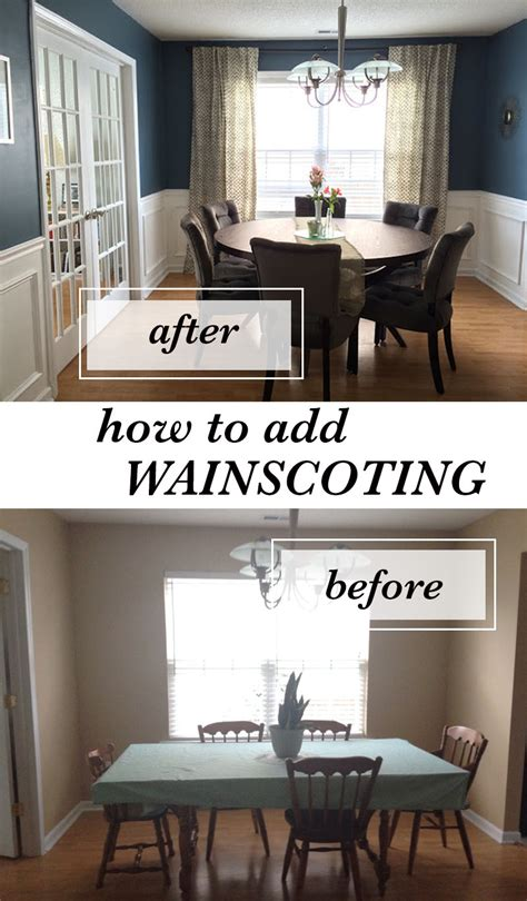 How To Install Wainscoting In Dining Room How To Install Wainscoting
