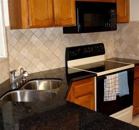 Simple Kitchen Backsplash Ideas Kitchen White Kitchen Cabinet With Green Subway Backsplash Combined With Mixer And Stove Placed