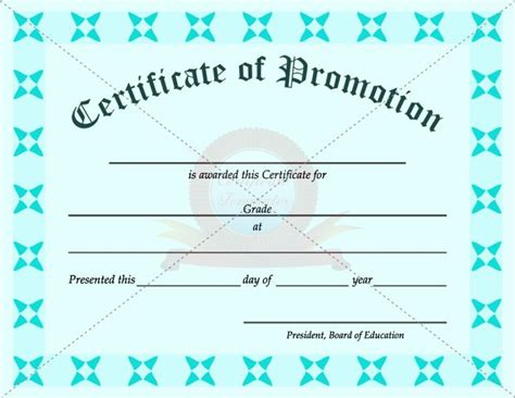 certificate of promotion template 1000 images about certificate template on