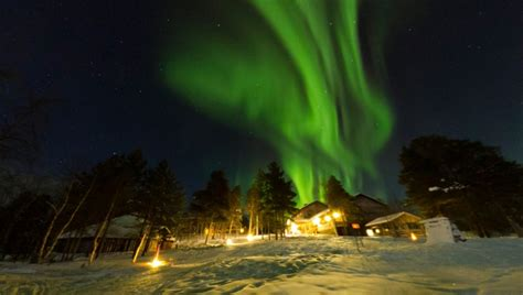 finland northern lights tour winter northern lights activity holiday at hotel