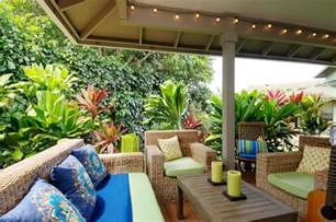 outdoor living tropical porch los angeles by