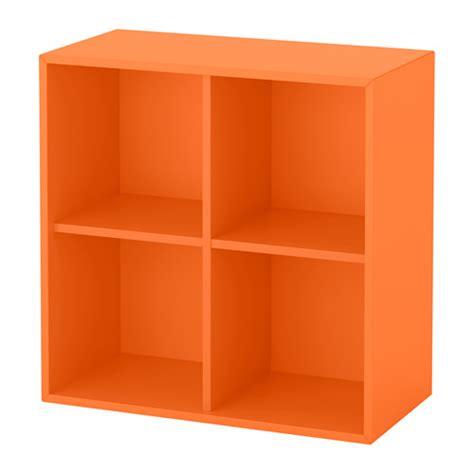 mensole arancioni eket mobile a 4 scomparti arancione ikea