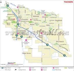 Map Of Tucson Arizona by Tucson Map Map Of Tucson Az Tucson Az Map
