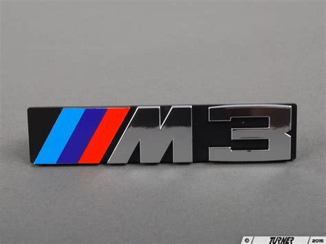 bmw front emblem 51141934620 front grill emblem e30 m3 turner motorsport