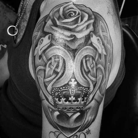 claddagh tattoo designs  men irish icon ink ideas