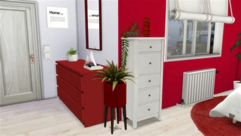 models sims  red  white bedroom sims  downloads