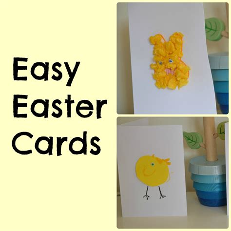 easy easter cards for toddlers to make easy easter cards for