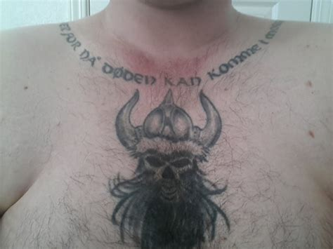 viking tattoo on chest viking chest tattoo designs ideas and meaning tattoos