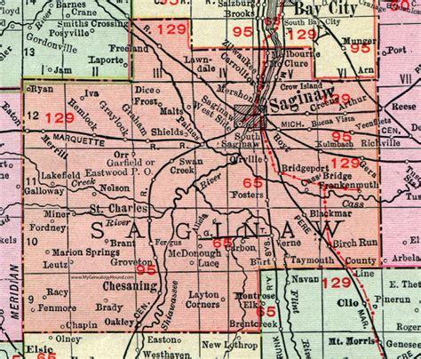 map of saginaw mi saginaw county michigan 1911 map rand mcnally