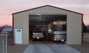 Metal rv garage lots of extra space the owners of this rv garage
