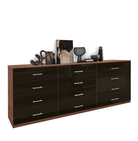 Tripple Dresser by Modern 12 Drawer Dresser Contempo Space