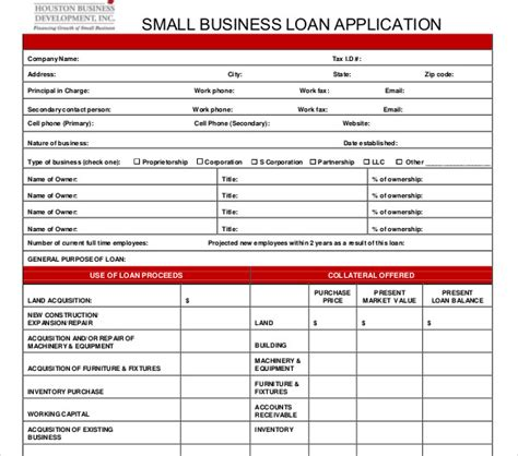 commercial loan application template 10 loan application templates pdf doc free premium