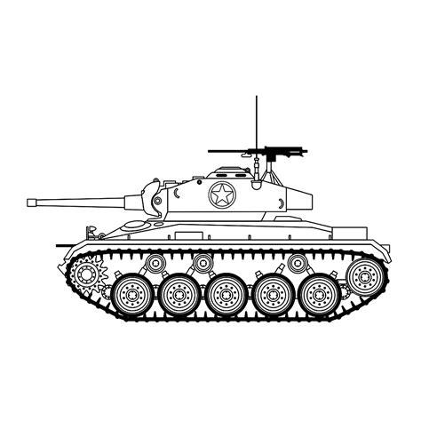 Leuk Voor Kids M24 Chaffee Tank Tanks Coloring Pages Croke