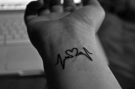 ekg tattoo on wrist 100 love tattoo ideas for someone special