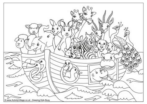 coloring pages animals noah s ark noah s ark colouring page