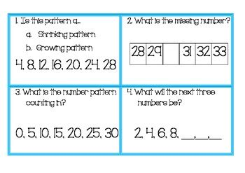 growing pattern numbers growing and shrinking number patterns and number sequences