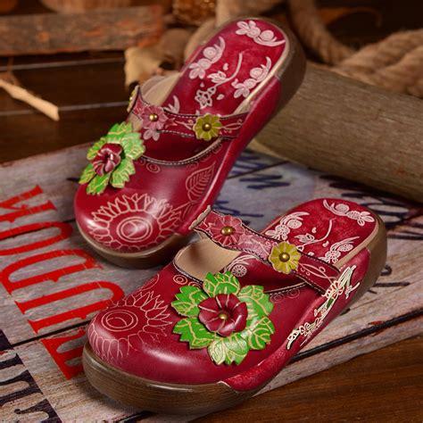 2016 Retro Style Handmade Shoes - 2016 new folk style layer cowhide handmade