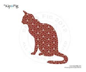 cat applique template pdf applique pattern by kipandfig on