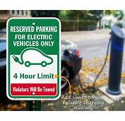 Electric Vehicle Parking Signs  Charging