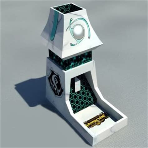Papercraft Dice - papercraft warmachine rpg dice tower